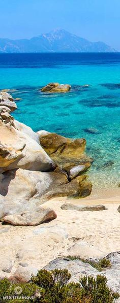 Turquoise and cobalt blue waters of the Greek Aegean Sea. For luxury hotels in the Aegean visit http://www.mediteranique.com/hotels-greece/