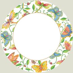 Caspari Parvaneh's Garden Paper Dinner Plates - Pack of 8 Mirror Painting, China Painting, Pottery Painting, Ceramic Painting, Ceramic Art, Pottery Bowls, Ceramic Pottery, Slab Pottery, Fine Porcelain