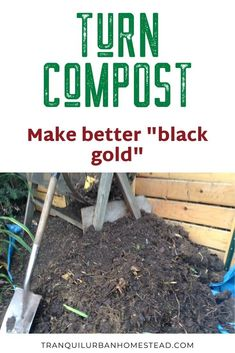 A compost bin is a great way to recycle your used plants and leaves. Taking the time to turn compost will help the process along to give you better results. How To Start Composting, How To Make Compost, Composting At Home, Garden Gadgets, Garden Tools, Fertilizer For Plants, Soil Improvement, Weed Seeds, Garden Maintenance