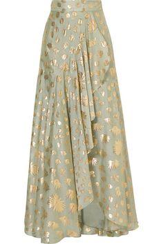 Temperley London | Riviera wrap-effect fil coupé silk-blend maxi skirt | NET-A-PORTER.COM