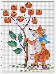 Влюбленные в осень: 50+ схем для вышивки крестиком, фото № 10 Cross Stitch Bookmarks, Cross Stitch Love, Cross Stitch Animals, Cross Stitch Kits, Cross Stitch Embroidery, Modern Cross Stitch Patterns, Cross Stitch Designs, Fox Crafts, Satin Stitch