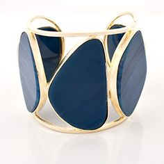 Marcia Moran Blue Agate Chunky Cuff
