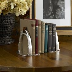 stirrup bookends - oh ralph lauren, you swanky overly-expensive genius :)