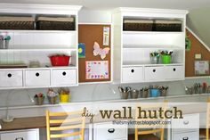 """""""W"""" is for Wall Hutch Build your own wall hutch for your kids, or craft room!"""