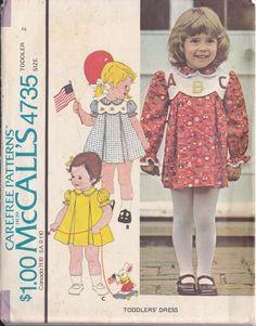 Girls Dress Pattern  Scalloped Yoke  Inverted Pleats  by rosenu2, $4.50