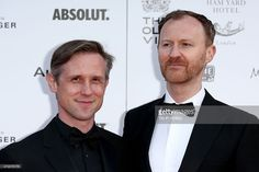 Actors Mark Gatiss and Ian Hallard arrive at The Old Vic Theatre for a gala celebration in honour of Kevin Spacey as the artistic director's tenure comes to an end on April 2015 in London,. Mycroft Holmes, Mark Gatiss, Kevin Spacey, Better Half, Martin Freeman, Sherlock Bbc, My Crush, Benedict Cumberbatch, Real Life