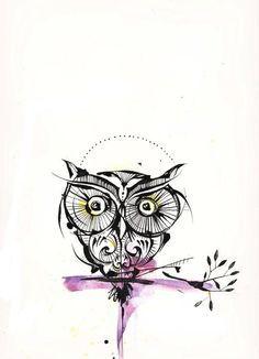 Résultats de recherche d'images pour «tattoo hibou dessin»
