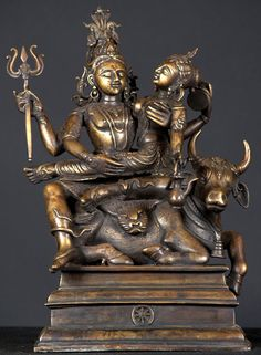 Shiva and Shakti. To me they are male and female deific representations of the great primordial force of the universe.