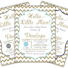baby shower invitation baby boy shower party invite little man baby shower chevron baby shower invitation