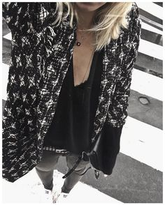 Pluie --> photo pourrie • Necklaces @pascalemonvoisin @feidtparis • Jacket…