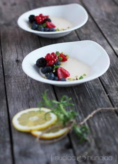 If life offers you lemons, make a yoghurt pannacotta with lemon and a hint of rosemary