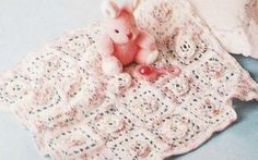 Rose Square Baby Afghan - free crochet pattern