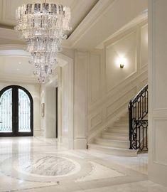 Home Interior Design, House Design, Foyer Design, Mansion Interior, House Rooms, Home Room Design, House, Staircase Design, Home
