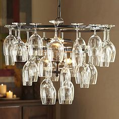 240W Pendant Light with 6 Lights in Wine Glass Feature $175.99