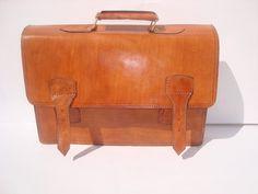 Moroccan vintage leather Briefcase laptop bag  document case shoulder Messenger mens carry bag. $89.99, via Etsy.