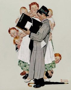 Norman Rockwell - The Census Taker, 1940