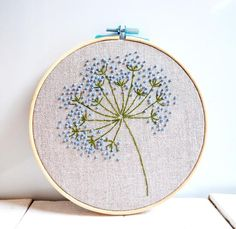 This Blue wild flowers embroidery hoop art Floral wall art Hand embroidered Framed room decor Beginner hand stitched Botanical gift is just one of the custom, handmade pieces you'll find in our embroidery shops.Military Embroidery Near Me Paper Embroidery, Hand Embroidery Stitches, Learn Embroidery, Embroidery Hoop Art, Silk Ribbon Embroidery, Crewel Embroidery, Hand Embroidery Designs, Embroidery Techniques, Embroidery Ideas