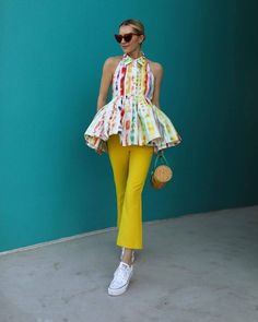 """( """"<tie-dye for top> ❤️ shop this look with the link in my bio Look Fashion, Spring Fashion, High Fashion, Womens Fashion, Fashion Design, Chic Outfits, Spring Outfits, Fashion Outfits, Fashion Trends"""