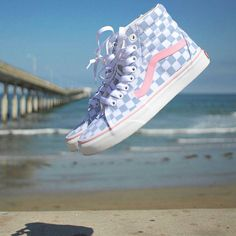 Loving these Checkerboard Skyway & Prism Pink. - Vans Girls Loving these Checkerboard Skyway & Prism Pink. Cool Vans Shoes, Vans Shoes Fashion, Dr Shoes, Custom Vans Shoes, Cute Vans, Hype Shoes, Sock Shoes, Vans Shoes Outfit, Vans Girls