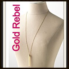 "💟STELLA & DOT REBEL NECKLACE IN GOLD💟 💟💖💟NWOT STELLA & DOT Rebel Necklace in Gold. Worn by numerous celebrities such as Julianne Hough, Selena Gomez, Tiffany Amber Thiessen, Kelly Clarkson and Vanessa Hudgens. Lead & Nickel Free. 28"" + 2"" Extender. 💟💖💟 Stella & Dot Jewelry Necklaces"