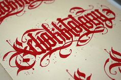 Calligraphy set 2014 on Behance Tattoo Lettering Fonts, Tattoo Script, Graffiti Lettering, Lettering Design, Hand Lettering, Typography, Gothic Script, Calligraphy Words, Beautiful Lettering