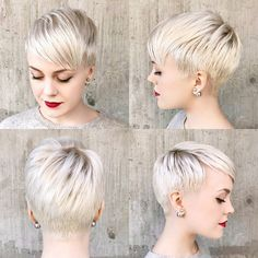 "6,161 Likes, 147 Comments - Short Hairstyles Pixie Cut (@nothingbutpixies) on Instagram: ""You keep asking for tutorials and they keep coming Thank you @sarahb.h for this clip."""