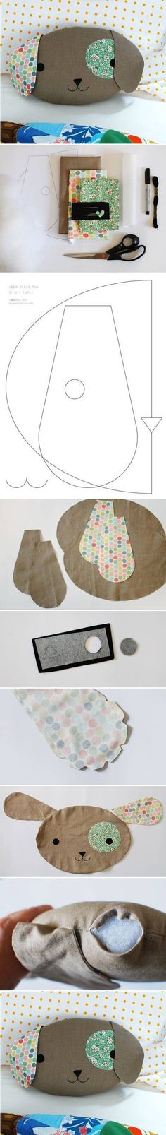 How To Make Pillows That Look Like Puppies diy sewing kids crafts how to tutorial sewing crafts Sewing Toys, Baby Sewing, Sewing Crafts, Sewing Hacks, Sewing Tutorials, Sewing Patterns, Cute Pillows, Diy Pillows, Sewing Pillows