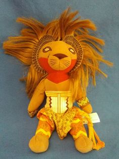SIMBA The Lion King Broadway Musical Plush Stuffed Animal Doll FREE SHIP #Disney