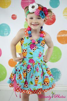 Poppy's Peekaboo Dress PDF Pattern sizes 6/12 by CreateKidsCouture