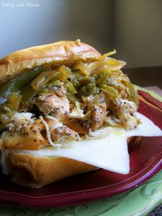 Slow Cooker Chicken Philly Sandwiches - Baking with Blondie
