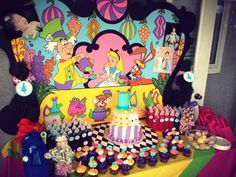 Amazing dessert table at  a Alice in Wonderland Party.  #aliceinwonderland #partyideas See more party ideas at CatchMyParty.com.