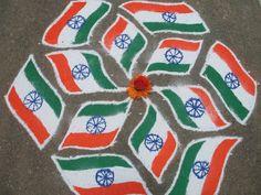 India Flag Rangoli