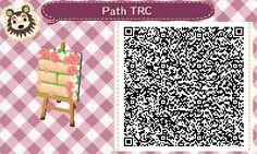Animal Crossing QR Codes ❤VandoriaforestTumblr Off white brick path w/ moss peeking through, Roses/ roses petals , Tile #7 Upper Right Corner
