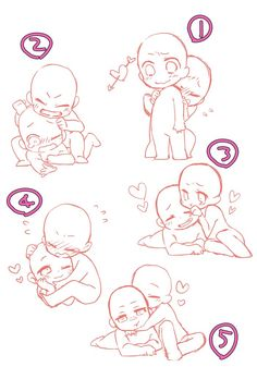 Chibi couple pose