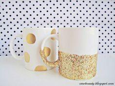 DIY Gold Mugs