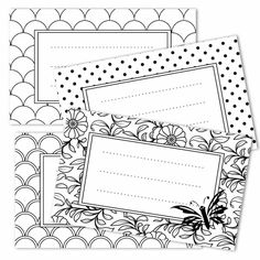 FREE printable coloring tags! Color them in your very own way and make them unique!