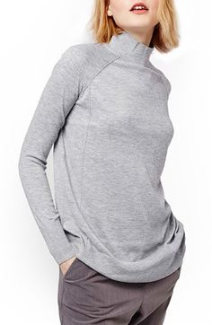 Topshop Funnel Neck Raglan Sweater available at #Nordstrom