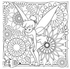 Tinkerbell Difficult Coloring Page