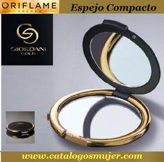 GIORDANY GOLD Espejo Compacto para cartera con aumento *70%* Oferta S/. 8.90