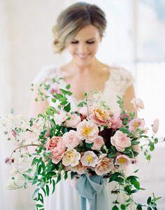 Bouquet | ELEGANT GARDEN WEDDING AT PHILBROOK ART MUSEUM | Sarah Winward