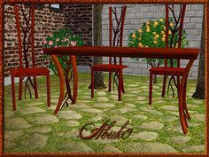 Puno Dining  Chair+Table  by Abuk0  http://www.allaboutsims.net/wbb3/index.php?page=Thread&postID=69670#post69670