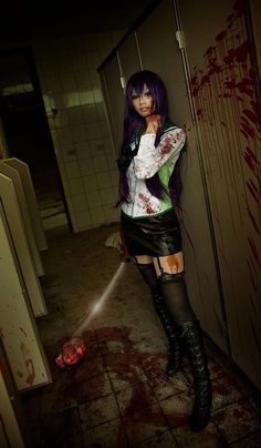 Epic cosplay of Saeko from High School of the Dead