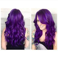We are OBSESSED with @pravana right now. This vivid violet done by Hair Addict @hairbyleslieaustin is perfect. And to think, her client had been hesitant before. She looks stunning! #pravana