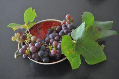 potje met oranje (botz : lava) en druiven van de buren