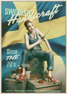 swedish clogs... amazing vintage inspired adverts.