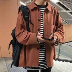 Korean Outfits, Retro Outfits, Boy Outfits, Casual Outfits, Cute Outfits, Fashion Outfits, Camisa Oversized, Mode Man, Style Masculin