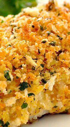 Healthy Parmesan Garlic Crumbled Fish Fish cakes recipe & content provided by Jordan Pie. Move over, chicken nuggets: Fish cakes make the perfect keto-friendly appetizer or weeknight dinne. White Fish Recipes, Easy Fish Recipes, Seafood Dishes, Seafood Recipes, Cooking Recipes, Parmesan, Salt Baked Fish, Air Fryer Recipes, Garlic