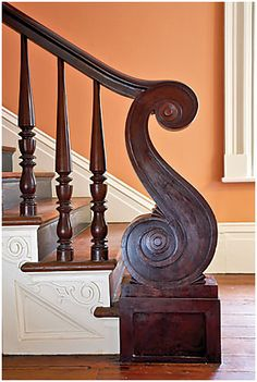 The William Gatewood House circa 1843 Legare Street - Charleston, South Carolina Dark stairs white trim American Houses, Just Dream, House Stairs, Stairway To Heaven, Architect Design, Victorian Homes, Architecture Details, Classical Architecture, Stairways