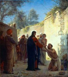 Carl Heinrich Bloch - Carl heinrich bloch christ healing - Oil painting reproduction