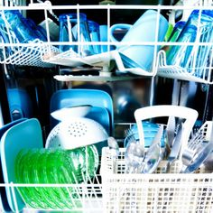 Is it necessary to wash my dishwasher?  Yes! Even the inside of your dishwasher accumulates dirt and gunk. Inspect the bottom reservoir and drain hose, where grease and food particles could get trapped. Push a wad of paper towels or a large sponge into the bottom to absorb any of this stuff. Then pour several cups of household vinegar into the bottom and run a cycle.
